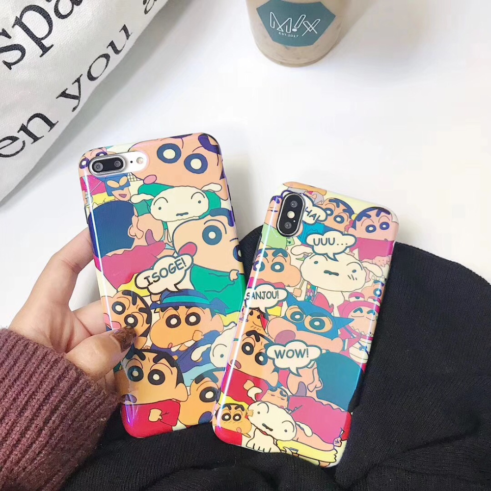 ZMASI Cartoon Crayon Shin Chan Phone Case For IPhone X