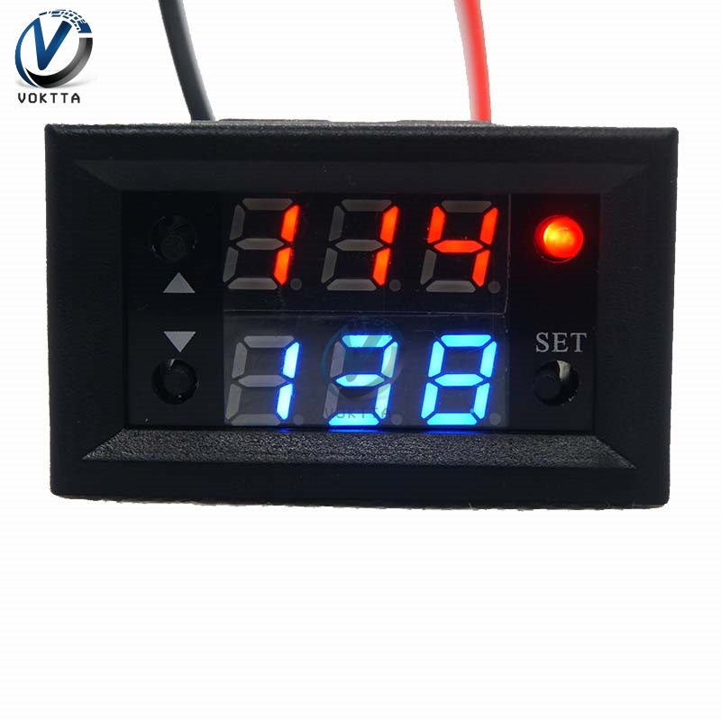 Relay 12v T2302 Dual LED Light Display Digital Timer Delay Relay Timer Relay Module 20A Cycle Switch Timer Bistable