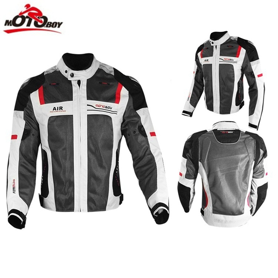 Livraison gratuite 1 ensemble hommes été Mesh respirant réfléchissant pantalon Moto Racing costume Motocross tout-terrain Moto veste et pantalon - 4