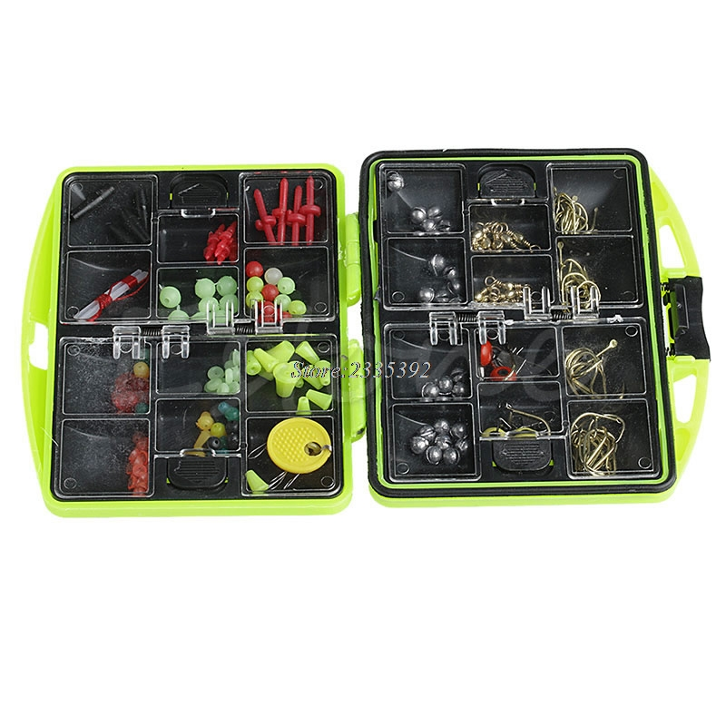 Assorties Tackle Box Lure Appâts Jig Emerillons Pince Crochets Poissons De Pêche Accessoires