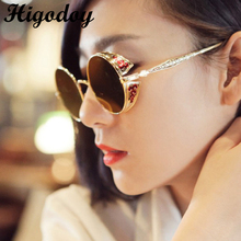 Gafas de sol reflectantes de Metal Vintage para mujer, gafas de sol para hombre, gafas de sol redondas Retro, gafas de sol para mujer, 2019