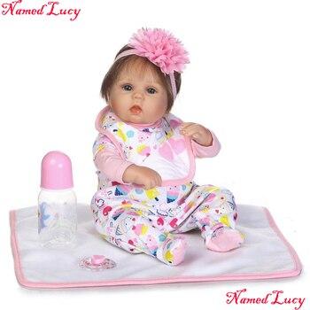 Bebe  NPK collection reborn babies silicone dolls newborn girl fake baby doll reborn with pacifier bottle blanket  bonecas
