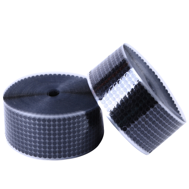 100Pairs Self Adhesive Fastener Tape Dots 10/15/20/25/30mm Strong Glue Magic Sticker Disc White Black Round Coins Hook Loop Tape