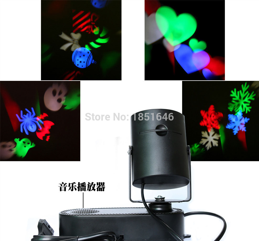 Rotating party effect lights,laser projector RGB 3W LED MP3 DJ Club Disco Party wedding Music Stage Effect Light show цена 2017