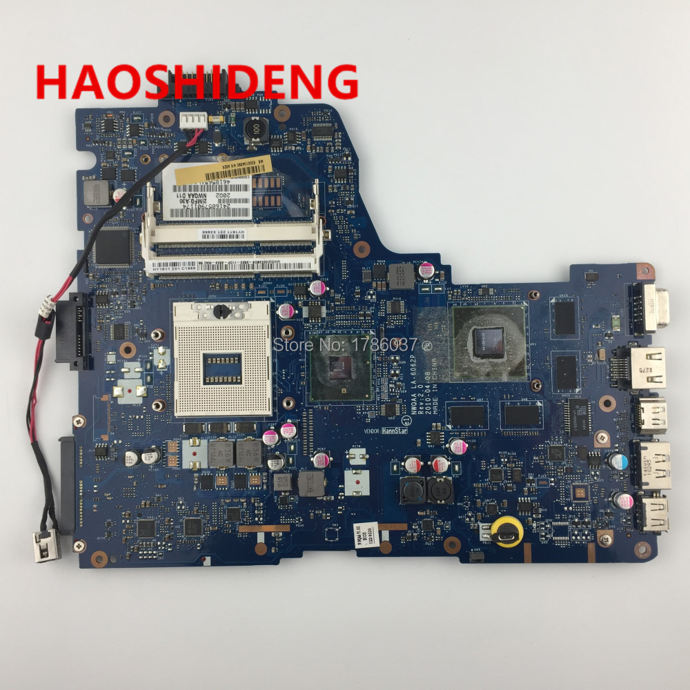 K000104390 LA-6062P for Toshiba Satellite A660 A665 series Laptop Motherboard .All functions fully Tested ! nokotion la 6062p rev 2 0 k000104430 for toshiba satellite a660 a665 laptop motherboard hm55 geforce gt330m