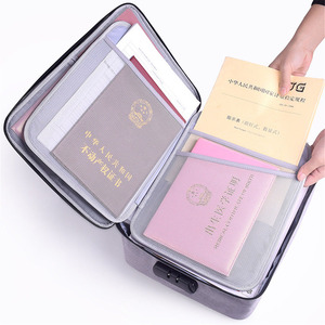 Image 5 - Large Capacity Document File Bag Case Waterproof Document Bag Organizer Papers Storage Pouch Credential Bag Diploma Storage File