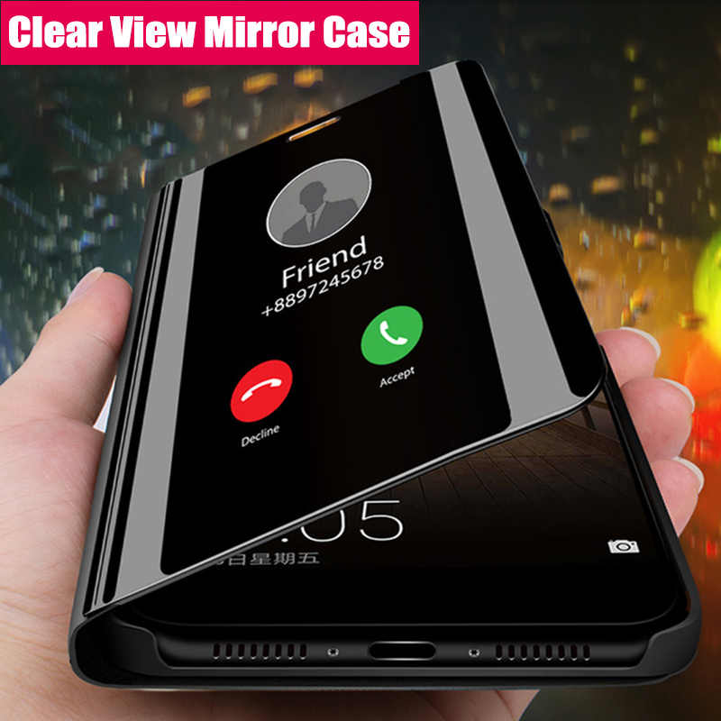 Smart Mirror Flip Case For Samsung Galaxy S10 S8 S9 Plus S7 S6 Edge A50 A6 A8 2018 A3 A5 A7 J3 J5 J7 2017 J5 J6 J8 2018 Cover