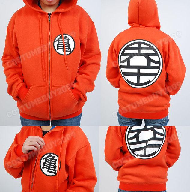 7b9d105c New Dragon Ball Z DBZ Son Goku Kame Symbol Men Jacket Cosplay Zip Hoodie  Anime Costume Wear