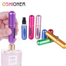 OSHIONER 5 ml 8 ml recargable Mini de Spray de Perfume de aluminio de la botella del atomizador del aerosol del viaje portátil envase cosmético botella de Perfume