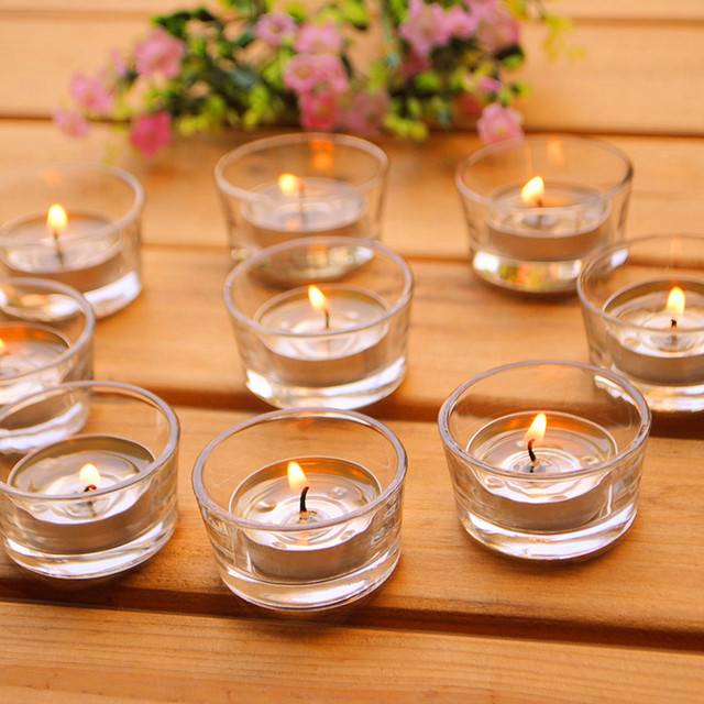 Small Gl Candle Holders Clear Votives Tea Lights Wedding Centerpiece Plain Simple Round Tealight Holder