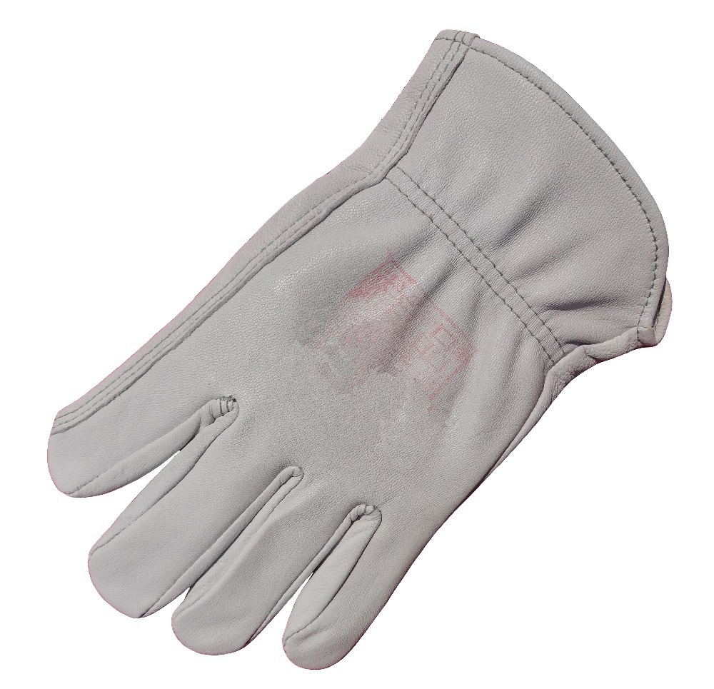 Leather Work Glove TIG MIG Welding Glove Top Grain Goatskin safety glove Leather Driver Glove leather combined safety glove deluxe leather work glove