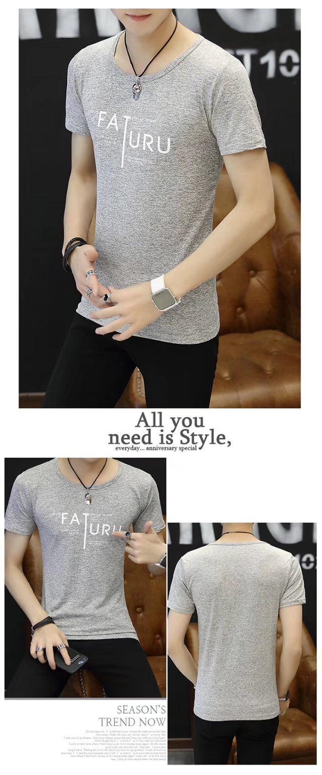 Spring 100% Cotton Casual Short Sleeve Rose Printing Men T Shirt O-neck Knitted Comfortable Fabric Street Style Men T-shirt 60