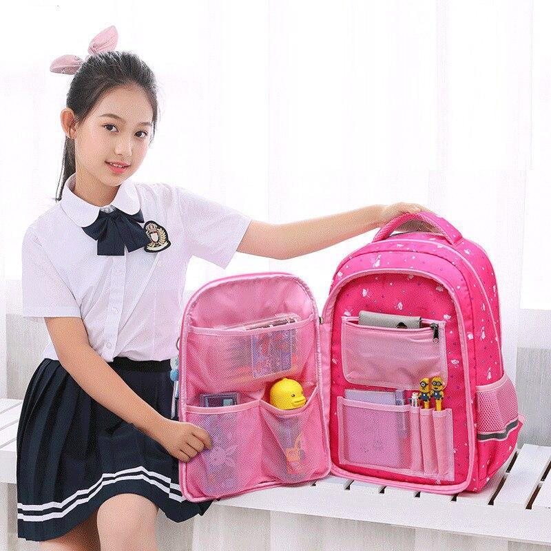 2019 Waterproof  School Backpack For Teenage Girls Boys Large-capacity School Bags Printing Children Backpack Student Book Bags