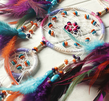 Dream Catcher With Five Ring Handicraft Chime Wall decor Ornamentation