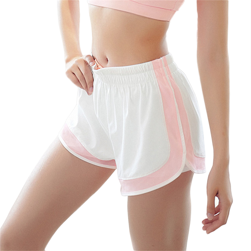 83c98cffe79c POWER Gym 2 In 1 Sports Shorts Running Women Quick Dry Elastic Fitness  Shorts Yoga Summer Exercise Workout Hot Tennis Shorts