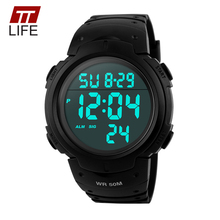TTLIFE Branded Mens Watches Sports Dive 50m Digital LED Military Watch Men Fashion Casual Electronics Wrist Watches Clock Luxury