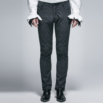 Devil Fashion Gothic Man Jacquard Dress Pants
