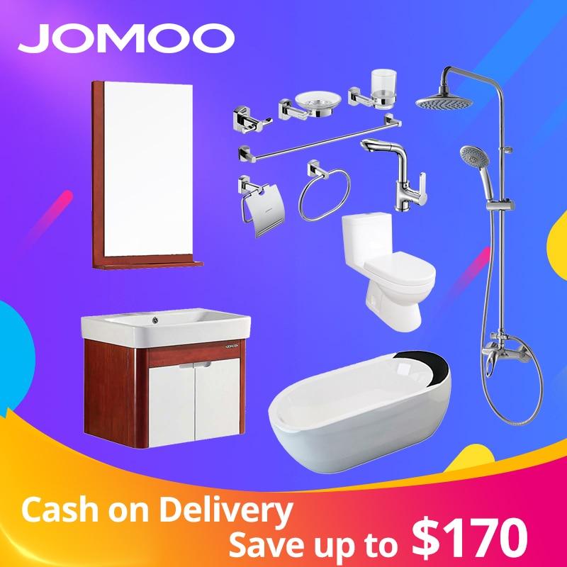 JOMOO Bathroom Hardware Sets Basin Faucets Shower Set Bathtub Bathroom Cabinet sanitary ware suit Toilet Bowl Wall Paper Holder