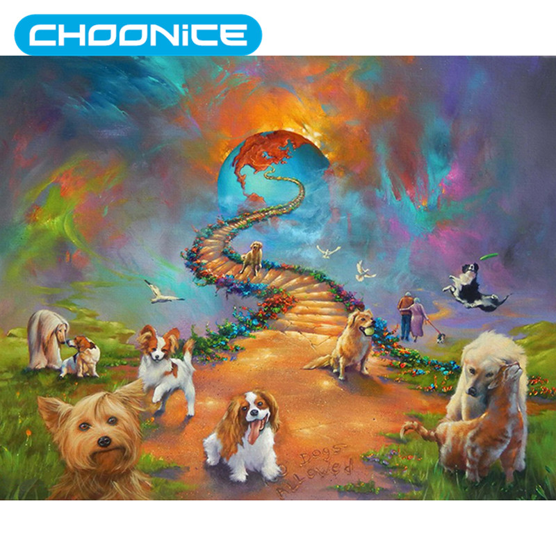 DIY 3D Diamond Embroidery Landscape Animal Puppy Diamond Painting Pokemon Planet Road Dog Coloring By Numbers Needlework