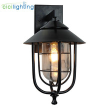 Outdoor Waterproof Wall Lamp Modern LED Wall Light black Indoor Sconce Decorative lighting Porch Garden Lights glass Wall Lamps led wall lamps wall mounted sconces modern wall sconce lustre iron painted white black wall light 5w outdoor and indoor lighting