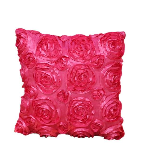 Rose Blume Motiv Beige Blau Lila 40x40 cm Kissen für heimtextilien ...