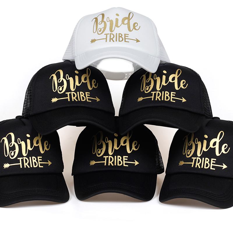 Bride Tribe Bachelorette Snapback Trucker Hat Cap Team Bride gold letters Arrow bride to be bride tribe baseball hats