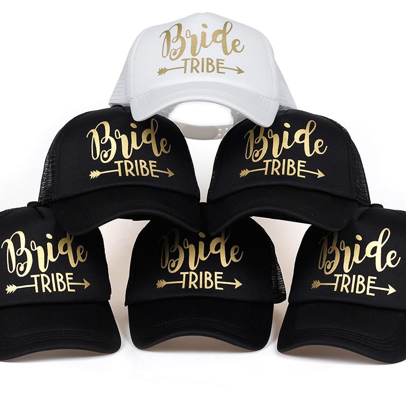 Bride Tribe Bachelorette Snapback Trucker Hat Cap Team Bride Gold Letters Arrow Bride To Be Bride Tribe Baseball Hats