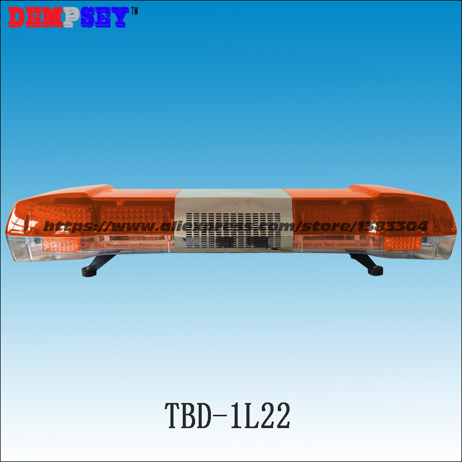 TBD-1L22 Super Bright LED Lightbar/DC12V&24V Flashing Warning Lights/Amber LED Light Bar/100W Siren + 100W Speaker