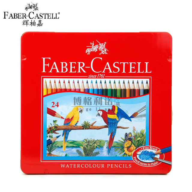 Faber Castell Color 24 color Water soluble Colored pencils Faber ...