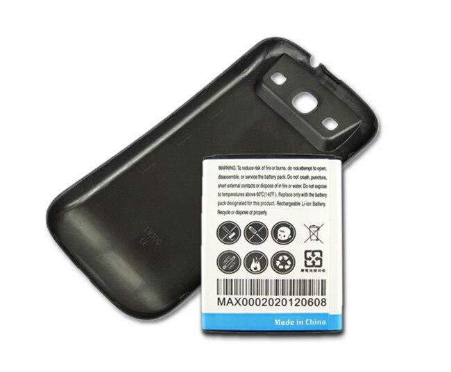 Batterie Pour Samsung Galaxy S3 SIII I9300 Remplacement De Téléphone Avancée De Sauvegarde Épais 4500 mAh Batterie + Couverture Arrière