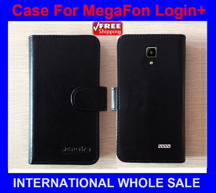 Hot! MegaFon Login+ Case Phone Factory Price Flip Leather Or