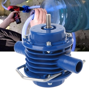 Image 3 - 2019New Heavy Duty Self Priming Hand Electric Drill Water Pump Home Garden Centrifugal Miniature Drill DC Small Pump Accessories