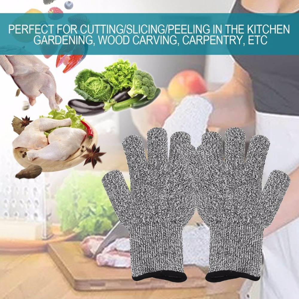 Workplace Safety Supplies Safety Gloves Food Grade Protection Leve 5 Stainless Steel Wire Glove Butcher Cut Resistant Protective Gloves Anti-cutting Mittens Jade White