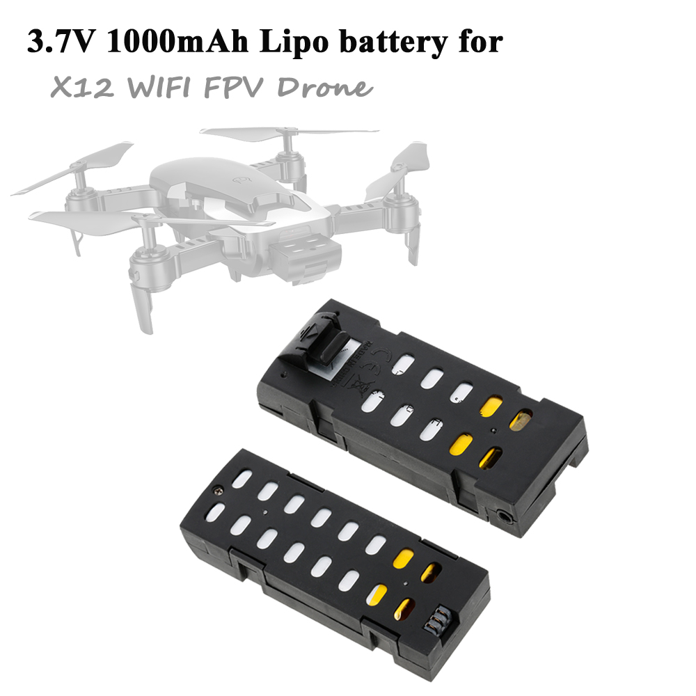 X12 M69 M69S RC Drone Battery <font><b>3.7V</b></font> <font><b>1000mAh</b></font> <font><b>Lipo</b></font> Battery for X12 Wifi FPV RC Quadcopter Helicopter Dron Battery Accessories image