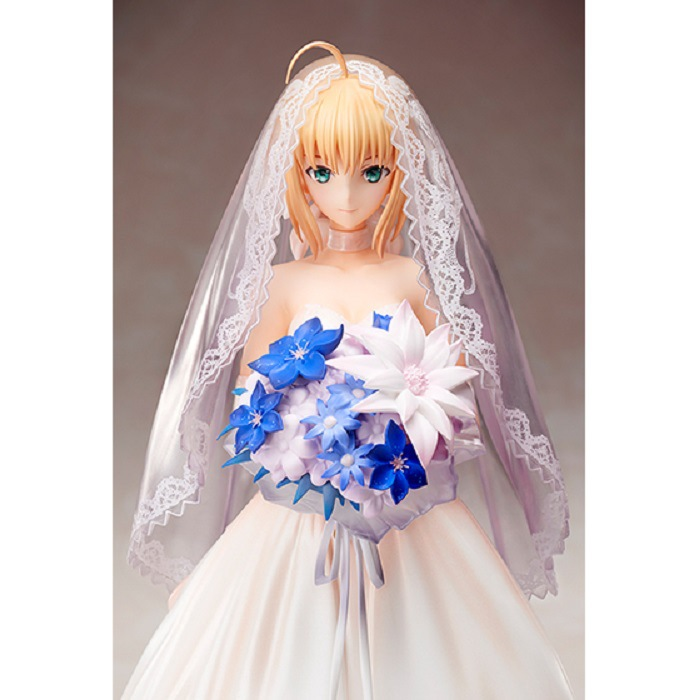 Unpainted GK Garage Resin Figure 1/7 Fate/stay night Saber in Wedding Dress Model Kit hsp 62021 center dogbone f 1 8 scale models spare parts for rc model cars himoto 94762