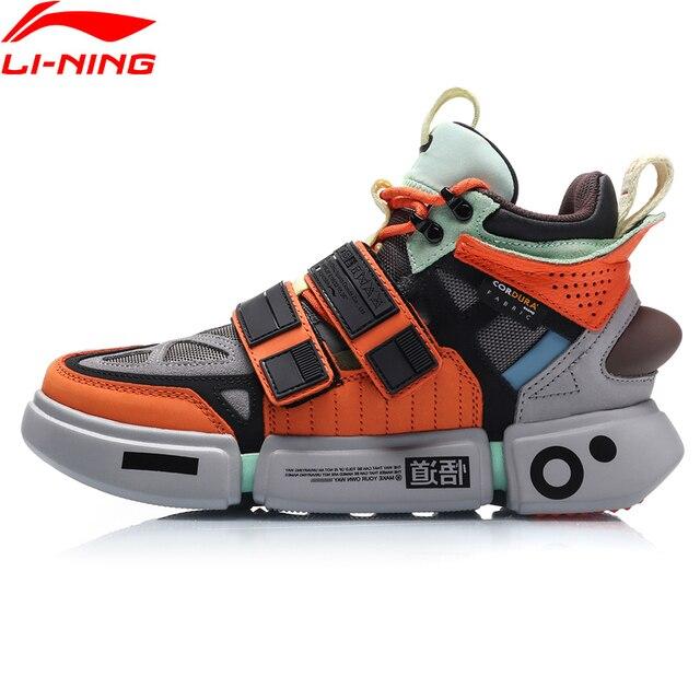 Li-Ning FW Женская ESSENCE ACE + Wade Культовая обувь натуральная кожа носимая подкладка Спортивная обувь Кроссовки AGWP018 XYL244