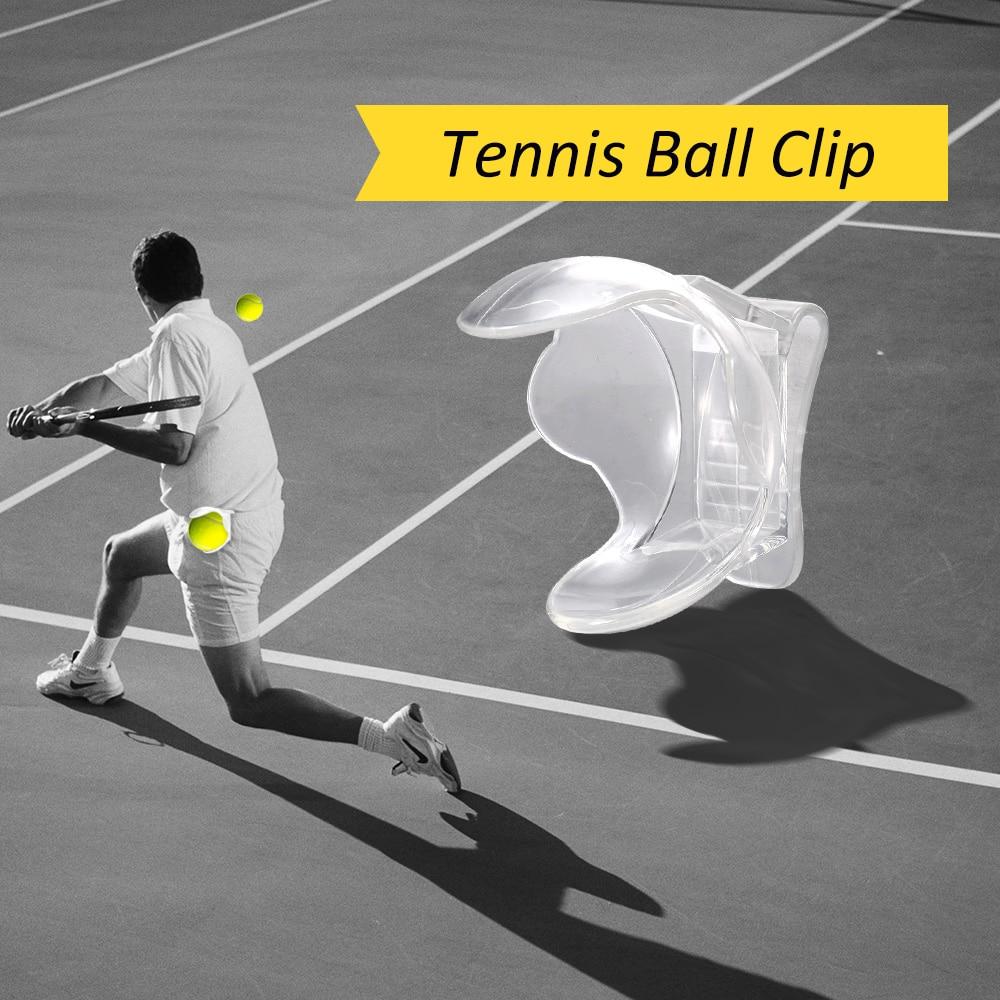 1Pc Tennis Ball Clip Professional Tennis Ball Holder Waist Clip Transparent Holds Tennis Ball Accessories Training Equipment