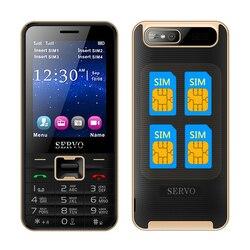 Servo v8100 4 sim cards 4 standby mobile phone quad sim four sim cards cell phone.jpg 250x250