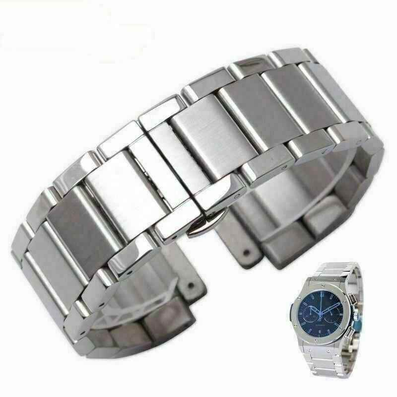 Replacement Bracelet for Hublot Classic Fusion in Silver Steel Band 27x19mm Bigbang series man 20*13mm woman metal watch band
