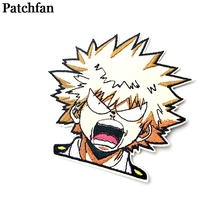Patchfan My hero academia applique patches diy iron on para jeans bag shirt clothes accessory stickers embroideried badge A2097