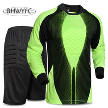 BHWYFC 2017 Men Goalkeeper Jersey Soccer Sponge Protector Doorkeeper Football Clothing Shirts
