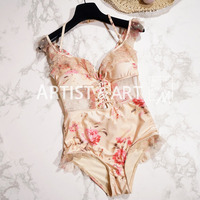 Svoryxiu Sexy Lace Fringe Bodysuits Women S Summer Backless Transparent Ruffles Floral Islands Holiday Bodysuits Femme