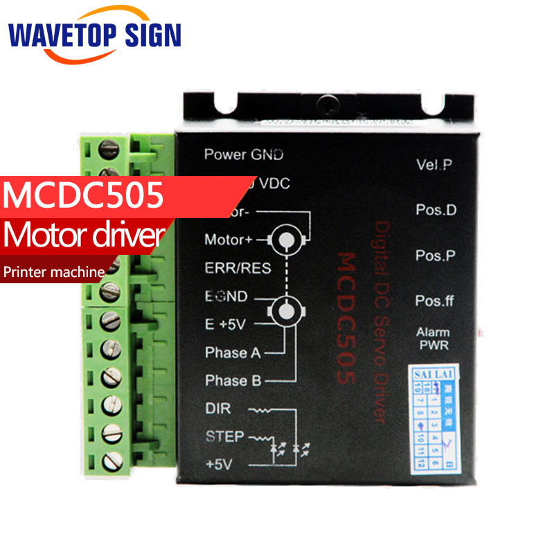 printer machine dc servo motor driver  MCDC505 DC servo drive  can instead of leadshine DB810 servo driver free shipping 24v dc mig welding wire feeder motor single drive 1pcs