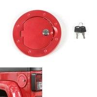 Aluminium Alloy Locking Fuel Tank Cover Gas Lid Filler Cap Trim Decoration Fit For Wrangler JK