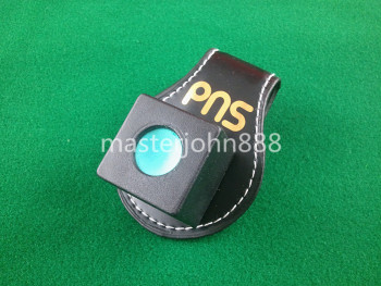 Pool Billiards Snooker Leather Magnetic Belt Clip Chalk Holder Free Shipping Wholesales цена 2017