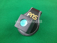 Pool Billiards Snooker Leather Magnetic Belt Clip Chalk Holder Free Shipping Wholesales