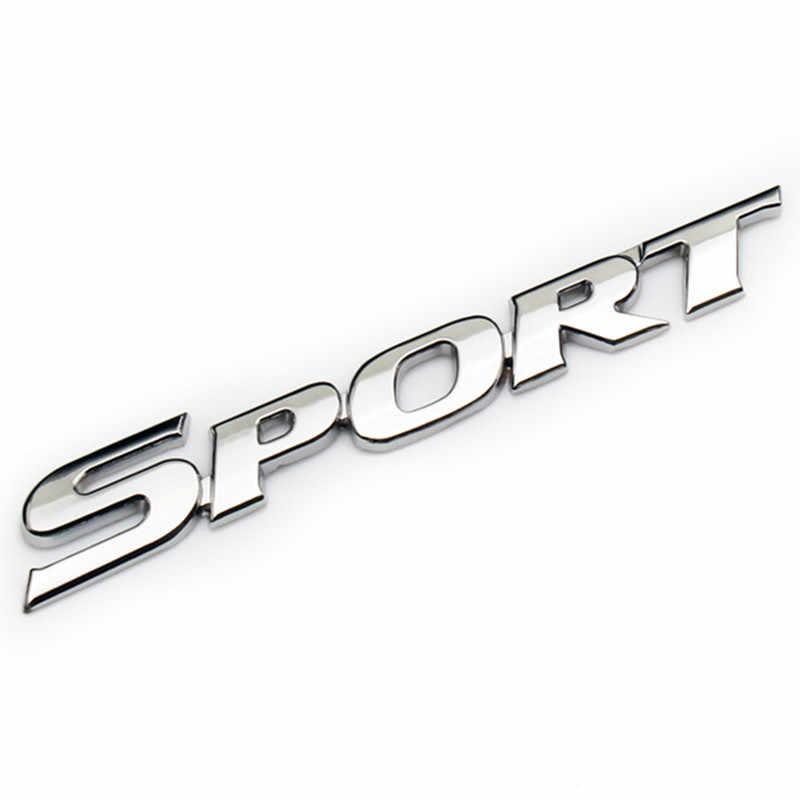 Nuovo 3D Chrome ABS Logo Car Sticker SPORT Distintivo Dell'emblema Porta Decalcomania Accessori Auto per Toyota Highlander BMW Honda VW kia Hyundai