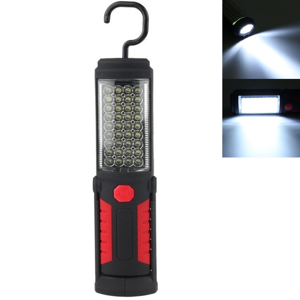 360 degree foldable Bright 36+5 LED Flexible Hand Torch Work Light Magnetic Inspection Lamp Flashlight Torch Battery Powered brightinwd super bright portable flashlight torch 36 5 led flexible hand torch work light magnetic inspection lamp