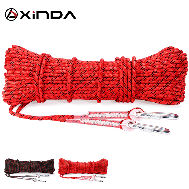 XINDA Escalada 10M Paracord Rock Climbing Outdoor Hiking Keselamatan Tali 8mm Diameter 9KN Kekuatan Tinggi Cord Camping Equipment