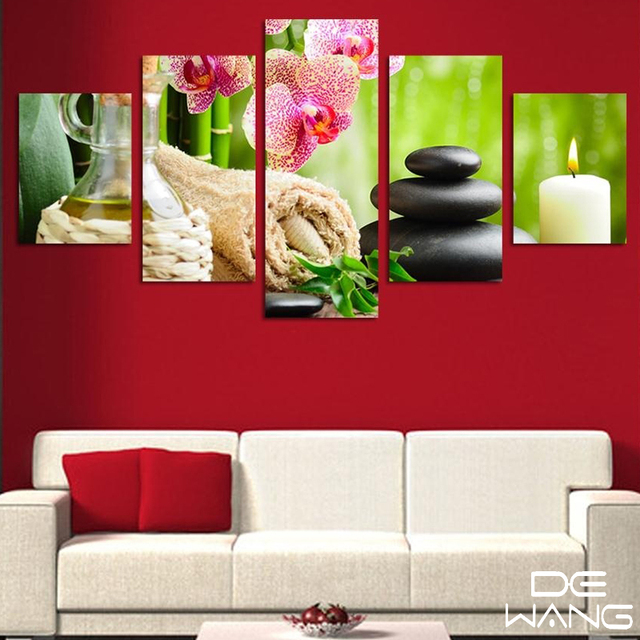 5 Pieces Canvas Wall Art Panels Large Wall Pictures For Living Room ...